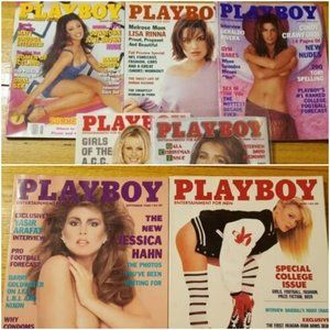 7 Vintage Issues Playboy Magazines